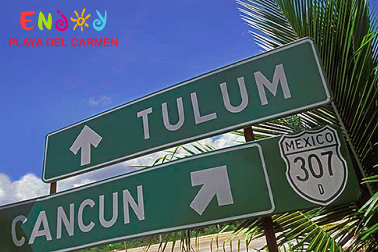Yucatan Peninsula Distances - Playa del Carmen ENJOY
