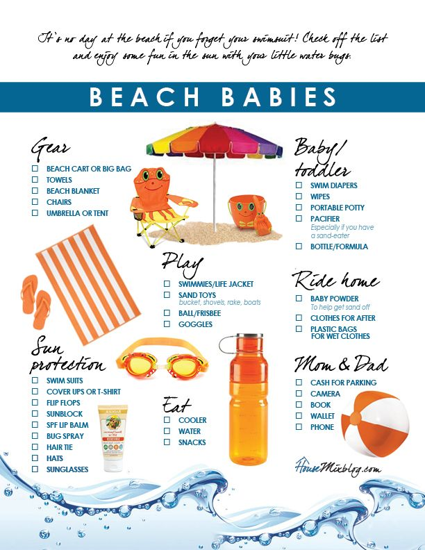 Packing list to go to the beach - Playa del Carmen ENJOY